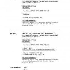 ATESTADO Nº 115-DIRINCRI-DIVINHOM-DEPINHOM-E2ASUNTO: POR DELITO CONTRA LA. VIDA, EL CUERPO Y - , LASALUD- HÓMICIDIO CALIFICADO - POR OBJETO CONTUNDENTE &quo. http://slidehot.com/resources/caso-basombrio.9938/