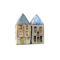 Small Ceramic House Miniature House by BlueMagpieDesign