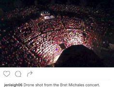Aerial overhead photo from Bret's record breaking @KBER101 #FourthofJuly concert! - Team Bret #GreatestHitsABC