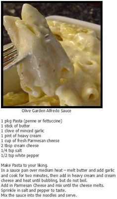 Donna says this is the best darn alfredo sauce ever! Don't argue with Donna...