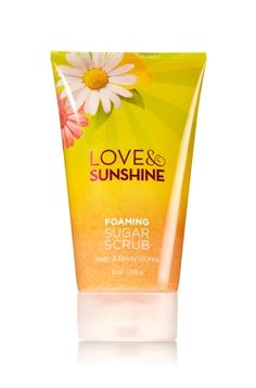 Love & Sunshine - Foaming Sugar Scrub - Bath & Body Works - Reveal your most natural beauty! Foaming Sugar Scrub soothes skin with a luxurious, rich lather, while naturally exfoliating sugar crystals gently reveal your radiance. With Vitamin E and Sunflower Oil, this limited edition formula nourishes and protects skin, leaving it incredibly soft and smooth.