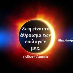 Οι ημερήσιες προβλέψεις για τα ζώδια σήμερα Albert Camus, Feeling Loved Quotes, Love Quotes, Greek Quotes, Self Confidence, Optimism, True Words, Positive Thoughts, Positivity