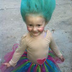 Cute troll Halloween costume!!!! Yep, pretty positive this is bris' costume this year!!!!!