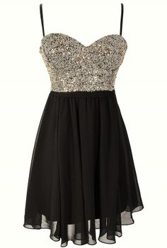 Gold Sequin Bustier Chiffon Dress