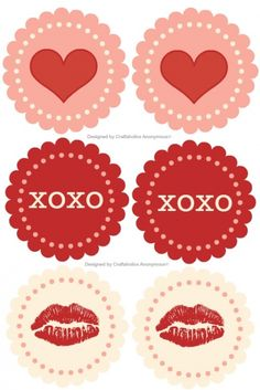 Super cute valentine printables! love the muted color palette.