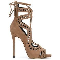 Giuseppe Zanotti Design 'Tattoo 16' sandals ($865) ❤ liked on Polyvore featuring shoes, sandals, lace up shoes, laced up shoes, stiletto sandals, lace up stilettos and giuseppe zanotti sandals