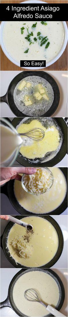 Four Ingredient Asiago Cheese Alfredo Sauce Recipe