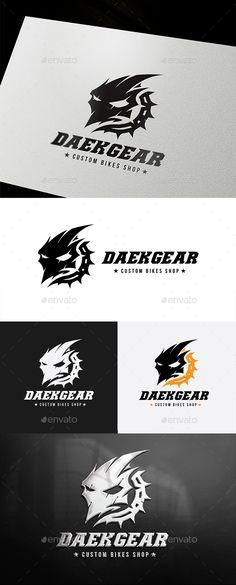 Dark Gear Logo Template PSD, Vector EPS, AI Illustrator. Download here: https://graphicriver.net/item/dark-gear/17377362?ref=ksioks