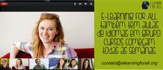 Aulas de idiomas através do Google Hangout. Divertidíssimo!!