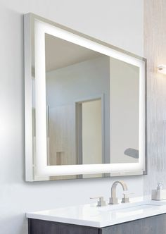 Photo Gallery Website Laura Aluminium Backlit Mirrored Bathroom Cabinet House Pinterest Backlit mirror Mirror bathroom and Bathroom cabinets