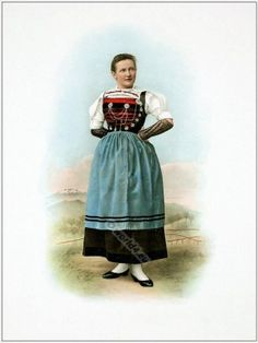 Woman from Canton of Zurich Rafzerfeld.