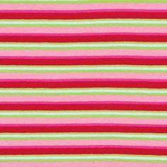 Jersey Stripes Hilla - Cotton - Spandex - pink