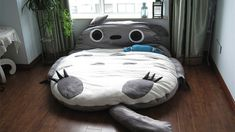 Insane Totoro Bed. I can't tell if this is adorable or terrifying. I think adorable.