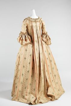 Robe à la Française Date: 1765–70 Culture: French Medium: silk Accession Number: 2009.300.854