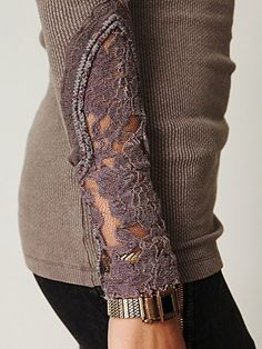 lace, thermal. perfect combo of warm and cool. great for spring