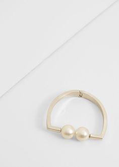 Bracelet carré perles | MANGO