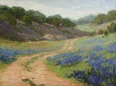 Spring Bloom - plein air demo, painting by artist Laurel Daniel
