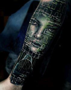 Hacker Sleeve Tattoo