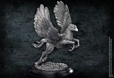 """10"""" pewter hippogriff sculpture"""
