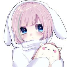 Lolis Neko, Anime Neko, Kawaii Anime Girl, Anime Art Girl, Kawaii Drawings, Cute Drawings, Anime Profile, Cute Chibi, Cute Icons