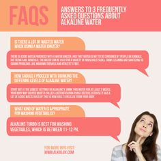 Answers to 3 Frequently Asked Questions About Alkaline Water  For more info, visit: http://www.alkalux.com/knowledge-base/about-alkaline-water.html