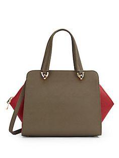 Eartha Two-Tone Saffiano Leather Bag