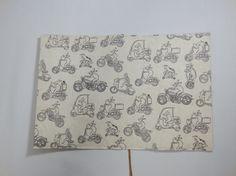 HOUSOがつくる不織布と紙の文庫本カバー。表は不織布、裏は耐水紙、しおり(スピン)をつけてあります。絵柄:鳥獣戯画現代版「バイク」サイズ:160㎜&time...|ハンドメイド、手作り、手仕事品の通販・販売・購入ならCreema。