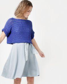 DIANA SWEATER / KIT Crochet Designs, Crochet Patterns, Knitting Kits, Skater Skirt, Diana, Knit Crochet, Tulle, Sweaters For Women, Wool