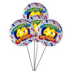 Happy 40th Birthday Balloon Delivery UK Balloons