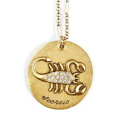 medal necklace sign horoscope scorpio hot gold contrast platinum round micro s lovers zodiac item sell medallion steel