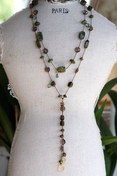 Turquoise lariat necklace by furstmandesigns on Etsy,