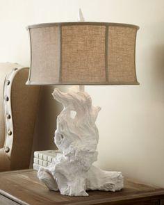 """bois flotté blanc..c classe. Horchow: White """"Driftwood"""" Table Lamp"""