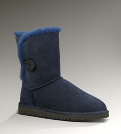 UGG Womens Bailey Button Navy For Sale In UGG Outlet - $108 Free Shipping, Free Tax, Door to door delivery.