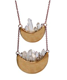 Really creative necklace from Pamela Love. I like that she uses real rocks in her collection.