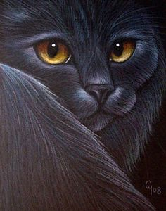 Cyra R. Cancel  | Art: BLACK CAT KATZE CHAT by Artist Cyra R. Cancel