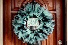 She's crafty! :) The kids have always been interested in craft projects around the holidays but I d. Tulle Crafts, Wreath Crafts, Diy Wreath, Door Wreaths, Wreath Ideas, Crafts To Do, Arts And Crafts, Tulle Wreath, Holiday Wreaths