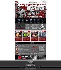 A website design I did for UB (Ultimate Body) Freak, an Australian based health and nutrition company.