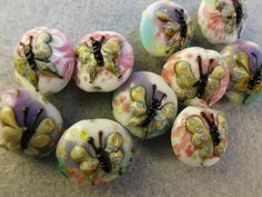 4 colorful Butterfly Lampwork Glass beads. Starting at $6 on Tophatter.com!