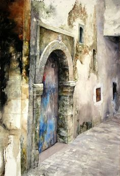 Watercolor Paintings By Lars Eje Larsson - Art Collection Watercolor Landscape, Watercolour Painting, Painting & Drawing, Watercolours, Art Et Architecture, Watercolor Architecture, Art Plastique, Painting Inspiration, Art Projects
