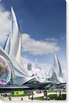 Modern Architect Alex Popescu - Futuristic Concept City
