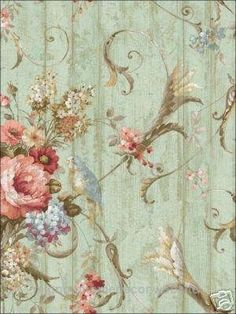 Unbelievable Bird Rose French Cottage Floral Victorian Wallpaper | eBay  The post  Bird Rose French Cottage Floral Victorian Wallpaper | eBay…  appeared first on  Migno Decor .