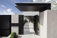 Modern Fence Design, Modern House Design, Modern Exterior, Exterior Design, Contemporary Architecture, Architecture Design, Cabana, Entrance Gates, Home Room Design