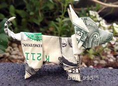 Chihuahua Dog Money Origami - Dollar Bill Art