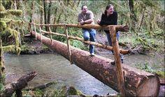 log over creek, kinda scary :0