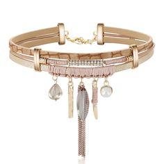 MJARTORIA Velvet Choker Necklace Women Tassel Crystal Necklaces Pendants Gothic Punk Multilayer Chokers For Women Jewelry #Affiliate