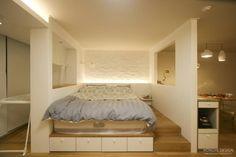 침대: 홍예디자인의 translation missing: kr.style.침실.modern 침실