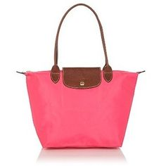Longchamp Le Pliage Nylon Tote in Rosaly Pink - Handbags - B... - Polyvore