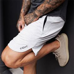 2017 Mens summer new fitness shorts Fashion leisure gyms Crossfit Bodybuilding Workout Joggers male short pants Brand clothing Yoga Shorts, Running Shorts, Workout Shorts, Men's Shorts, Jogger Shorts, Man Workout, Workout Plans, Workout Fitness, Sport Style