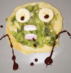Jim enjoyed his zombie inspired #pancake while watching Walking Dead! #prizepancake