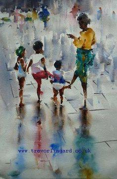 Painting by Trevor Lingard, a tutor at The Watermill at Posara painting holidays/vacations, Tuscany Italy.